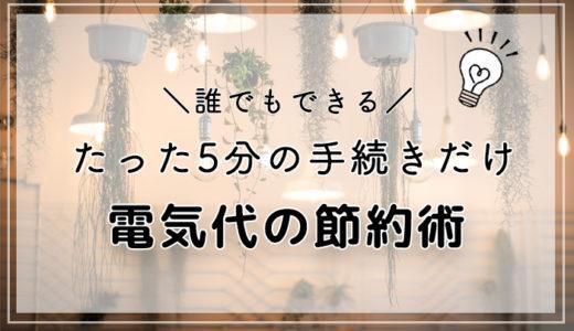 【電力自由化】たった5分の手続きで電気代6,000円の節約に成功!
