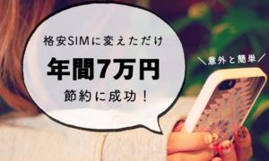 格安SIMに変更して通信費を節約